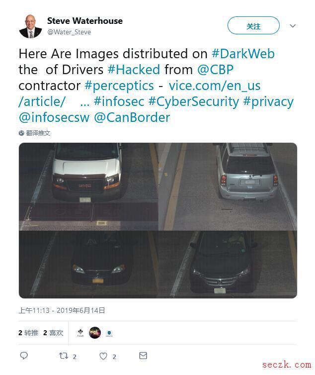 CBP分包商出现重大数据泄露事件 至少5万名美国车牌信息在暗网出售