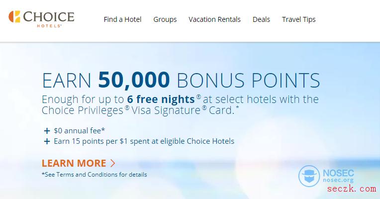大型连锁酒店Choice Hotels被曝出数据泄露事件,涉及70万条客户记录